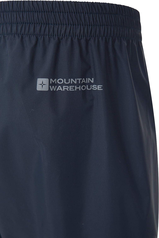 sovrapantaloni Impermeabili da Bambini Mountain Warehouse Pakka Cuciture Nastrate Traspiranti per Andare a Scuola con Il maltempo Regolazione della Caviglia