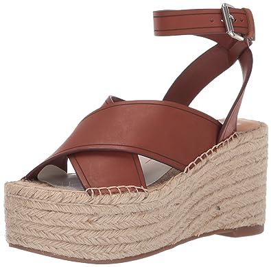 6c3eab18c42c Dolce Vita Women's CARSIE Espadrille Wedge Sandal Brown Leather 6 ...