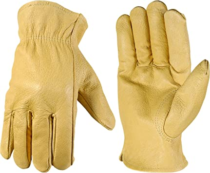 3 pairs Medium size GENUINE REAL CHAMOIS LEATHER WORK GLOVES
