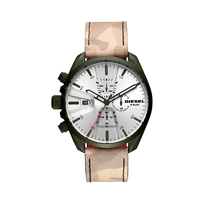 Diesel Reloj Cronógrafo para Hombre de Cuarzo con Correa en Cuero DZ4472: Amazon.es: Relojes