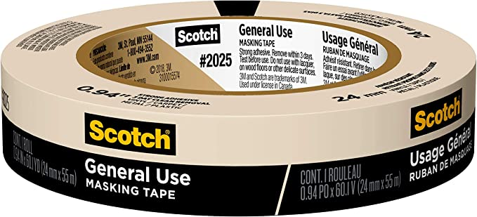 "3M 2480S 3//4/"" X 60 Yards 60 Day Ultimate Paint Edge Masking Tape"