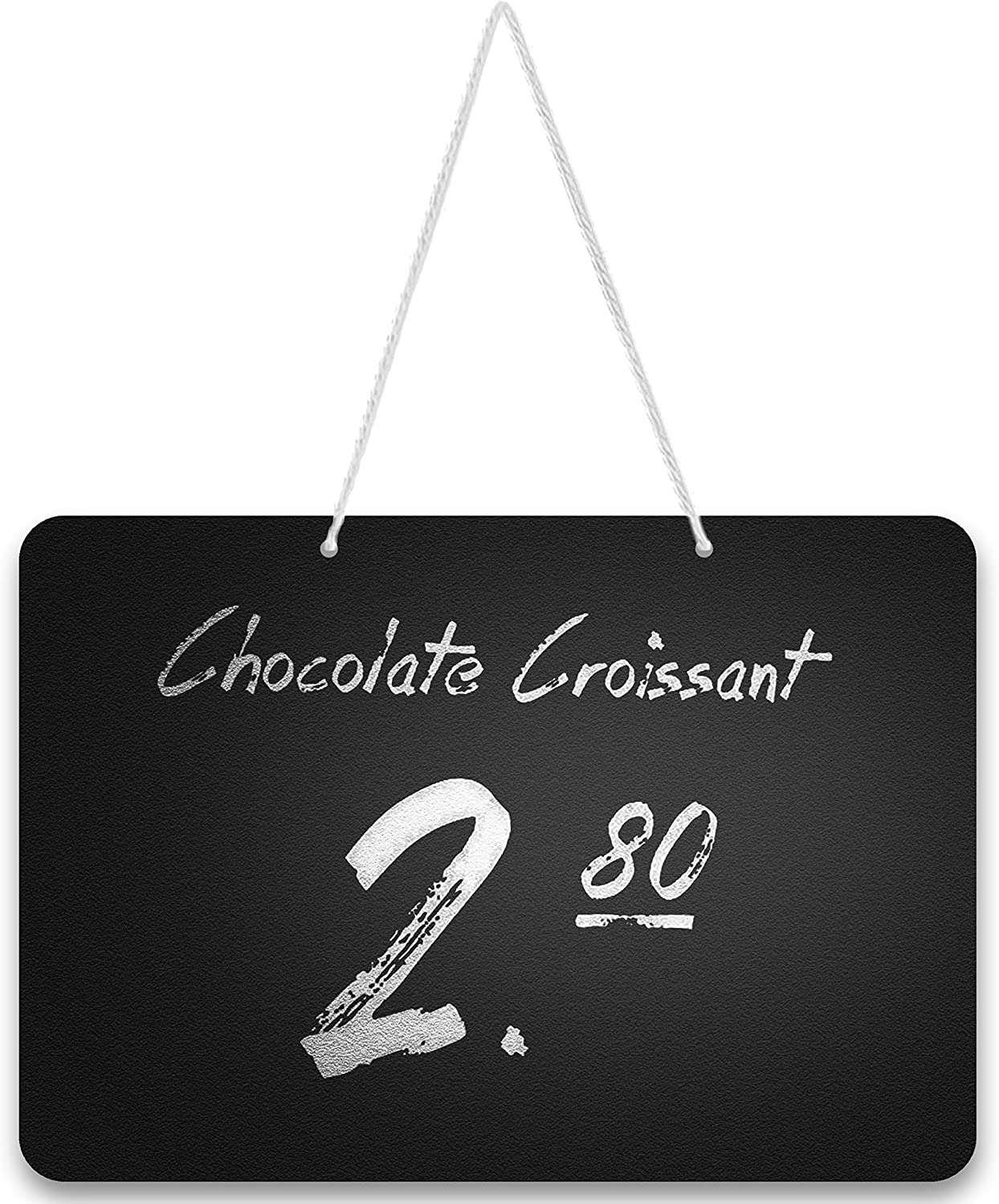 10 Pack Rustic Hanging Mini Chalkboard Signs - Chalk Sign - Easy to Write and Wipe Out - for Liquid Chalk Markers and Chalk - Hanging Food Labels for Party - Small Chalk Boards Signs for Food