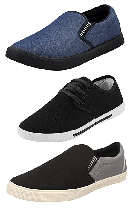 05594dd406 Chevit Men s Synthetic Casual Shoes - Pack of 3  Buy Online at Low ...