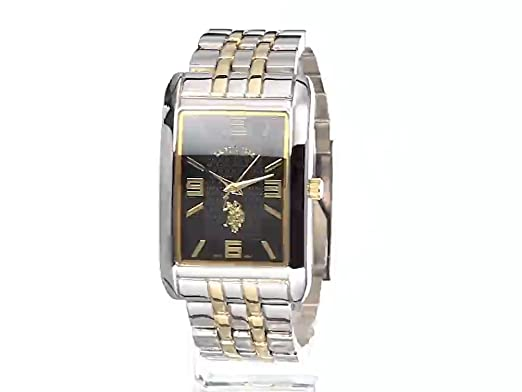 Amazon.com: U.S. Polo Assn. Classic Mens USC80292 Two-Tone Watch with Link Bracelet: Watches