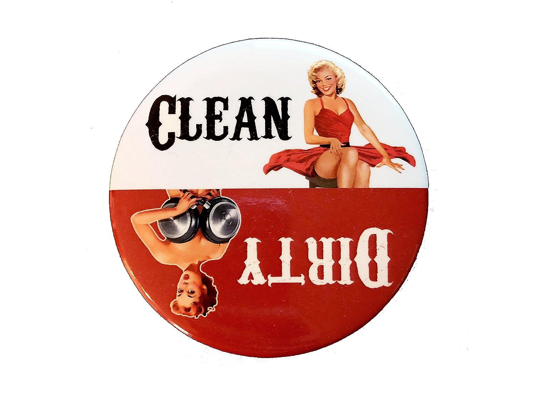 Chica sucia lavavajillas imán - limpia y sucia Indicador imán ...