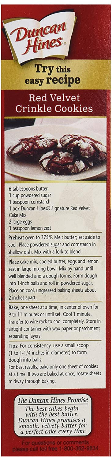 Com Duncan Hines Signature Red Velvet Cake Mix 16 5 Ounces Grocery Gourmet Food