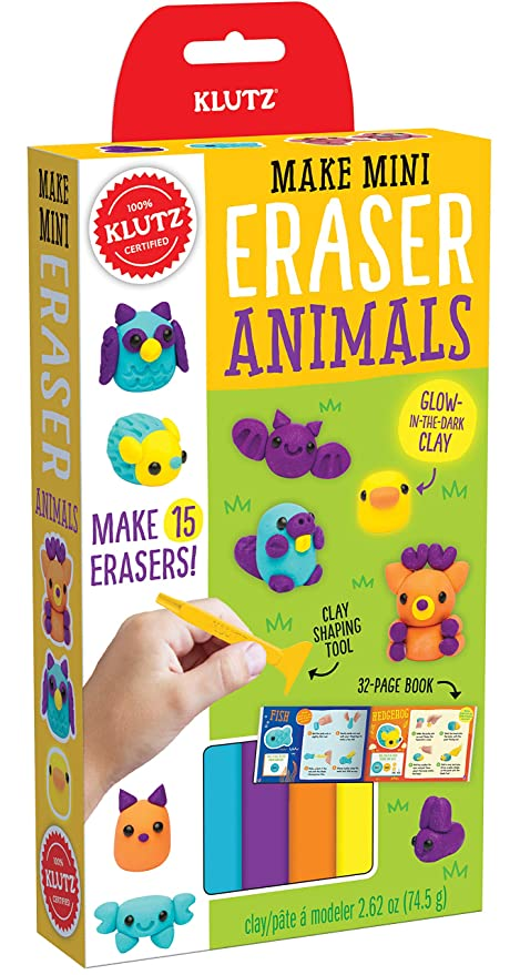e3b6c251fe485 Klutz Make Mini Eraser Animals Craft Kit