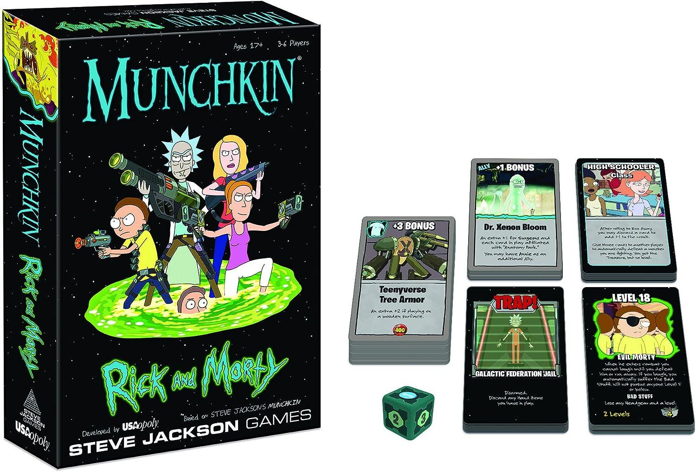 USAopoly- Munchkin: Rick y Morty, Colores Variados, Talla única ...