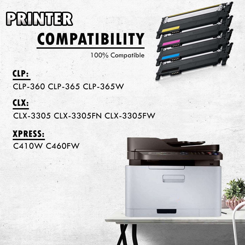 1 Set Of 4 Inkfirst Toner Cartridges Clt K406s Clt C406s Clt M406s Clt Y406s Black Cyan Magenta Yellow Compatible Remanufactured For Samsung Clp 365 Clp 360 Clp 365 Clp 365w Clx 3305 Clx 3305fn Clx 3305fw Xpress C410w C460fw Amazon Ca Office