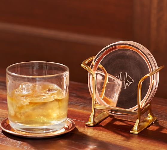 Copper Drink Coaster, Set of 4 | Pottery Barn