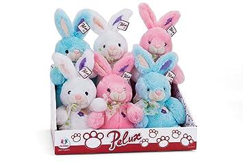 Globo Toys Globo – 83301 18 cm 3 Color Pelux sentado conejo de peluche Toy en