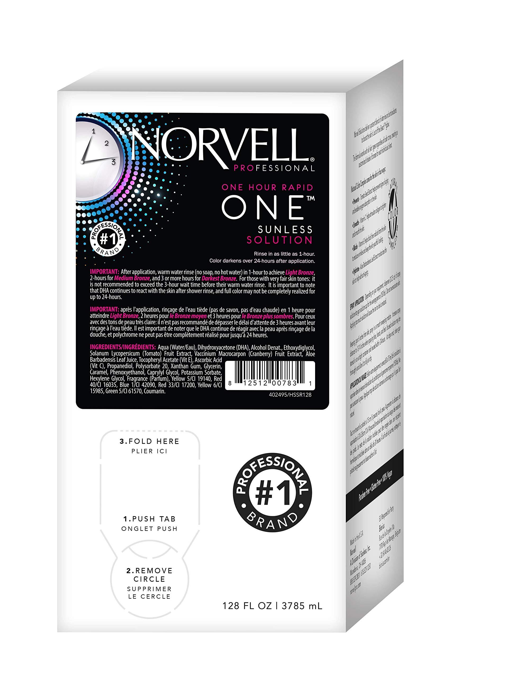Norvell Premium Sunless Tanning Solution - One Hour Rapid, Gallon/128 fl.oz.