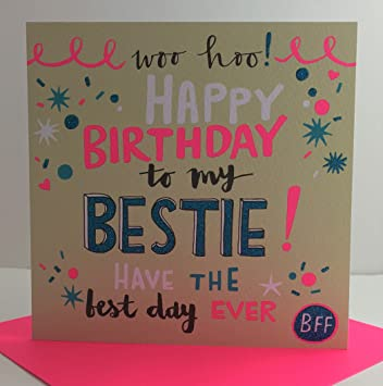 Amazing Rachel Ellen Designs Best Friend Birthday Card   Happy Birthday To My Bestie