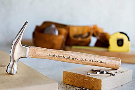 Personalized Dad Gifts from Daughter - Personalized Engraved Hammer Birthday Gift for Fathers and Grandpa (