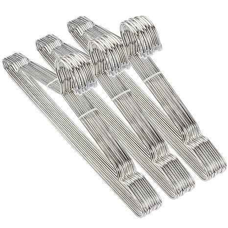 Amazon.com: 30 unidades perchas perchas de alambre de acero ...