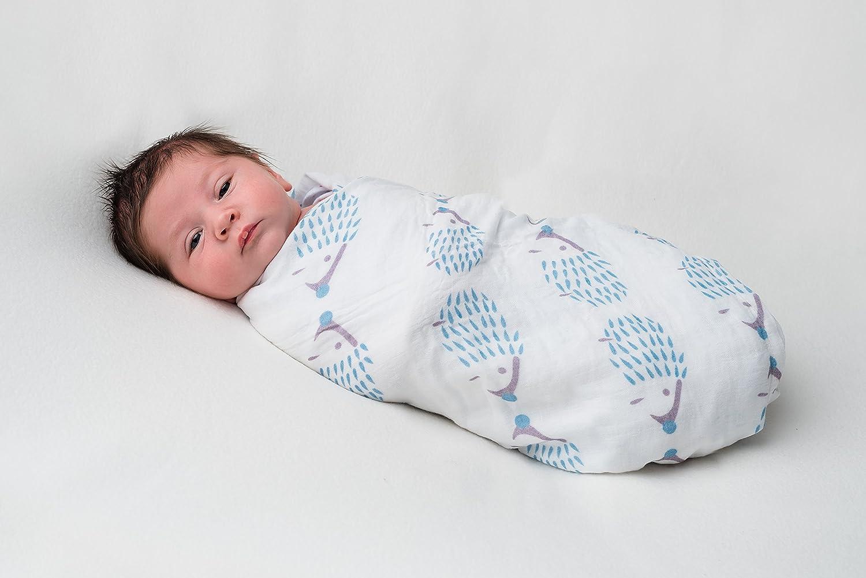 Ideal f/ürs Kderbett Tiny Chipmunk 100/% Bambus Baby Musselin-tuch Super weich Pl/üschelemente Unisex Puckt/ücher 4er-Pack 120cm x 120cm Extra gro/ß