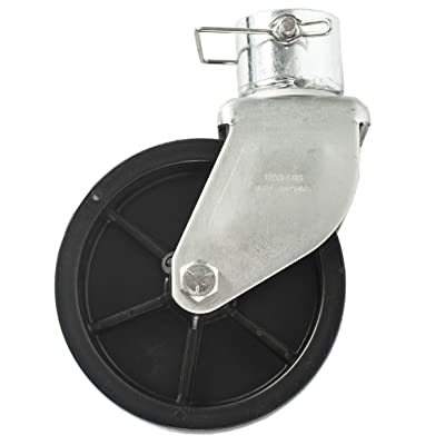 Jeremywell 6 Inch Trailer Swirl Jack Caster Wheel 1200lbs Capacity with Pin Boat Hitch Replacement Removable: Automotive