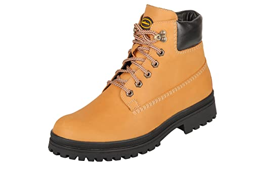 9c7e376665a MIDA Men's Winter Boots 14827: Leather and Fur Snow Shoes, Abrasion  Resistant, Non-Slip OC System Sole, Safety Ice Footwear, Warm and  Comfortable