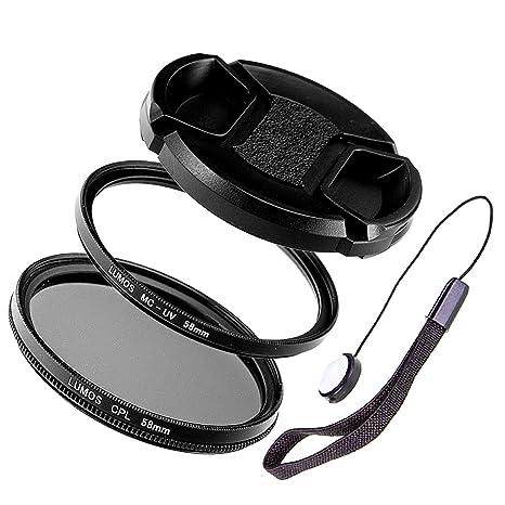 Lumos 58mm polarizador /& filtro UV set para lente de cámara con 58 mm rosca para filtros