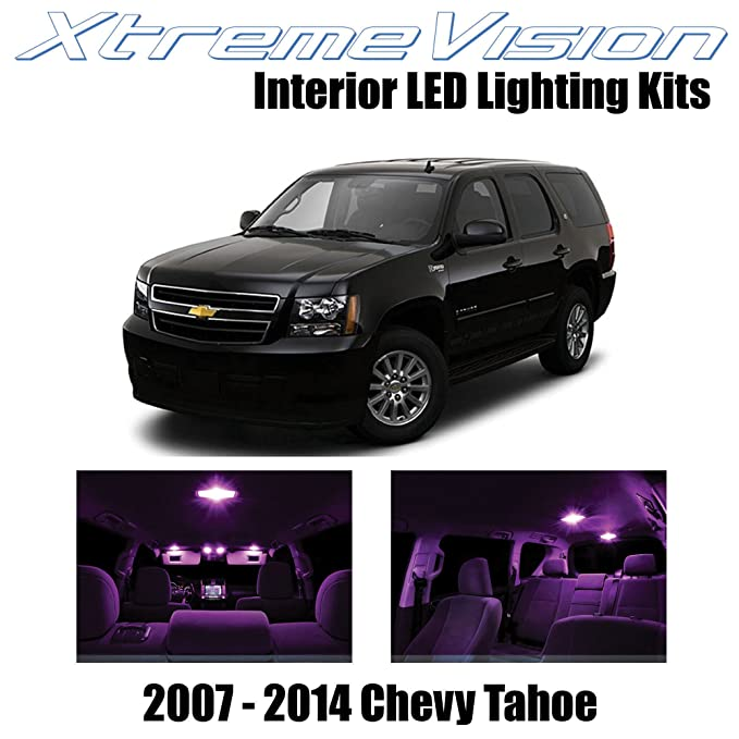 img buy XtremeVision Interior LED for Chevy Tahoe 2007-2014 (12 Pieces) Pink Interior LED Kit + Installation Tool