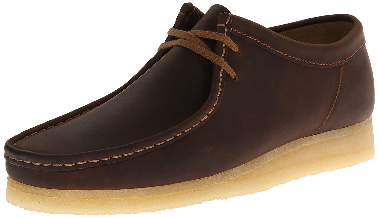 Amazon.com | CLARKS Men's Wallabee, Beeswax Leather, 10 D-Medium | Oxfords