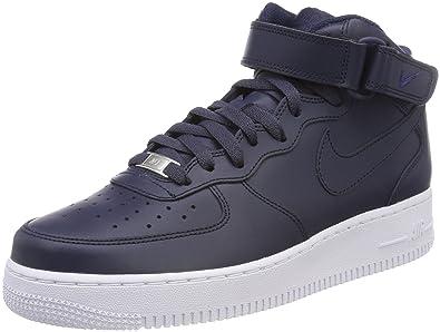 purchase cheap a81b4 98766 Nike Air Force 1 Mid 07, Baskets Hautes Homme, Bleu Obsidian-White 415