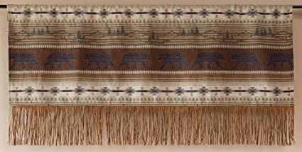 Carstens Rugged Earth Bear Collection Valance, Brown