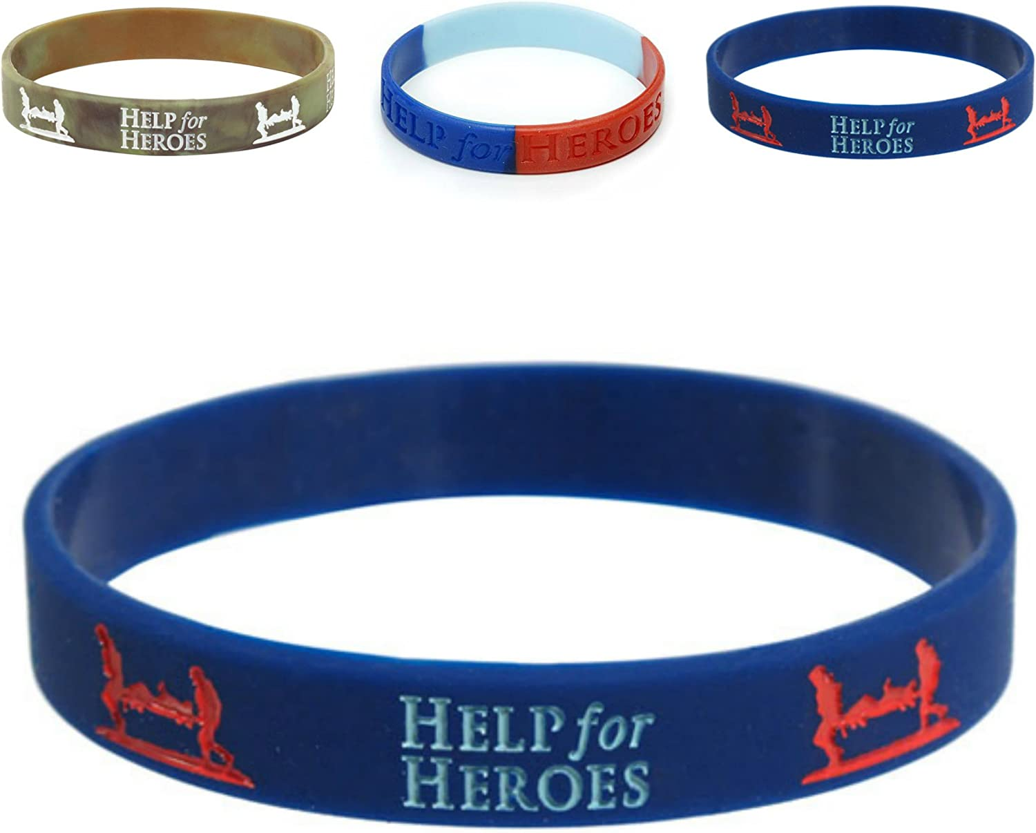 "Same Day Dispatch !! Brand New /""HELP FOR HEROES OFFICIAL SIZE LARGE WRISTBAND/"""