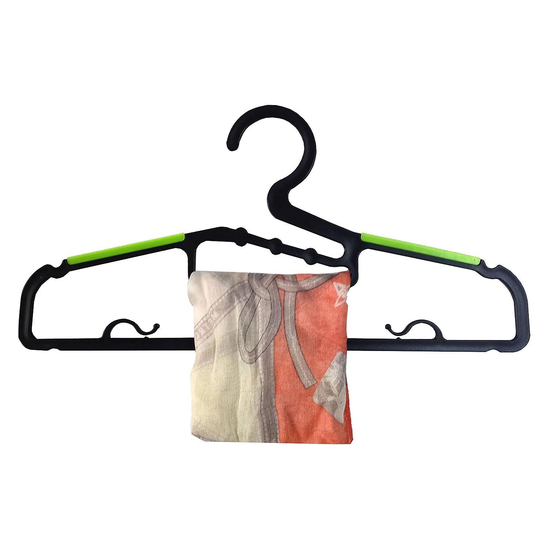 Scarves and Ties Kids Clothes Parang Non-slip Clothes Hangers Plastic Hangers Various Colors 30 Pack for Shirts Pants purple Dress PM TECH