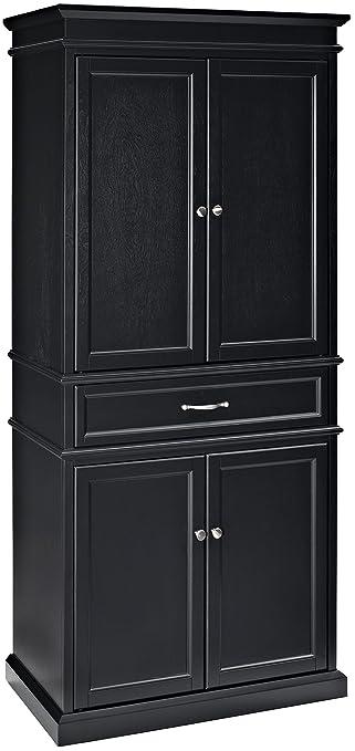 Crosley Furniture Parsons Pantry Cabinet   Black