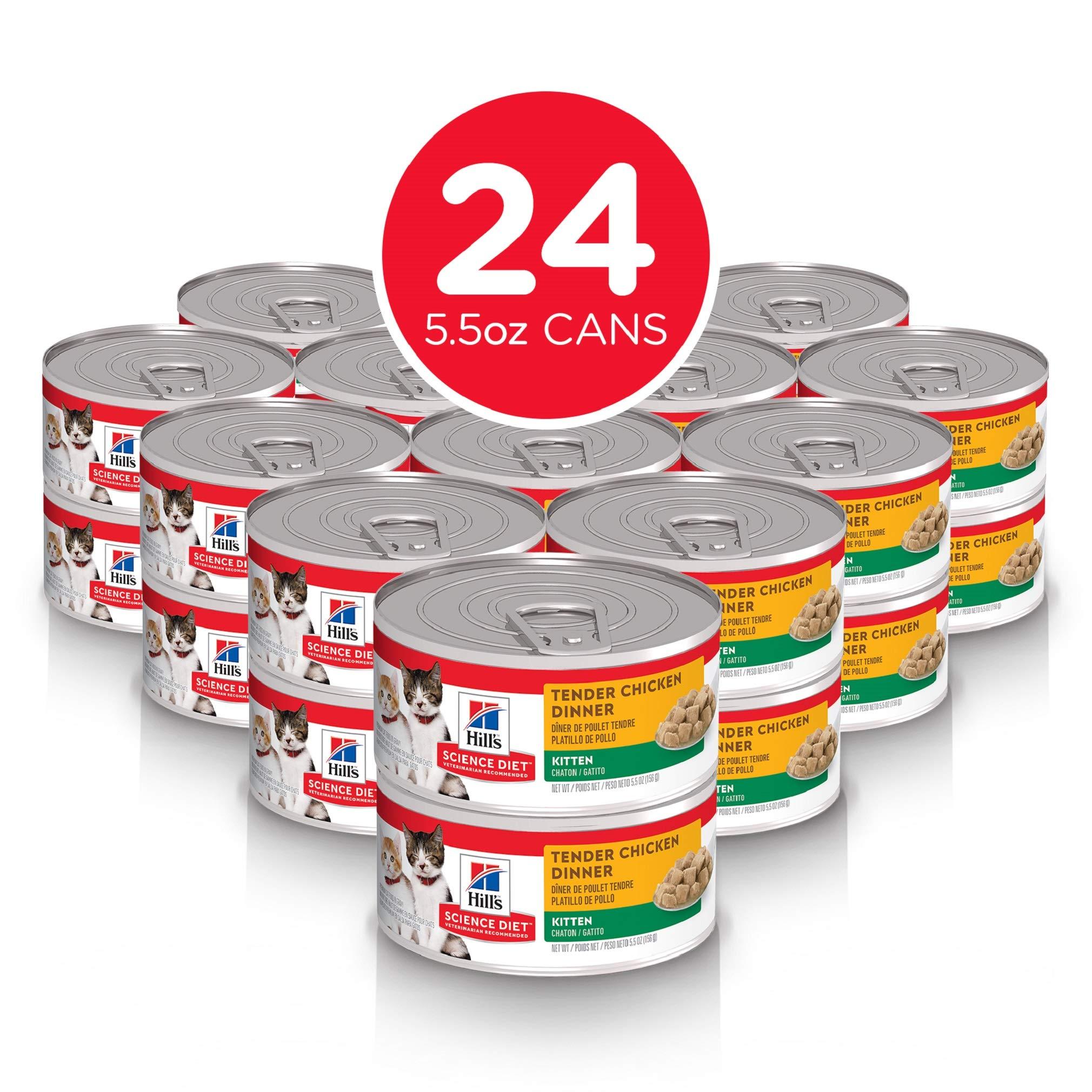 Hill's Science Diet Wet Cat Food, Kitten, Tender Chicken Dinner, 5.5 oz, 24-pack by Hill's Science Diet