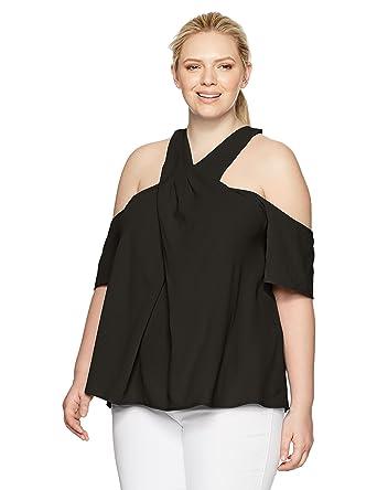 50dcfec283f4 RACHEL Rachel Roy Women s Plus Size Halter Cold Shoulder Top at ...