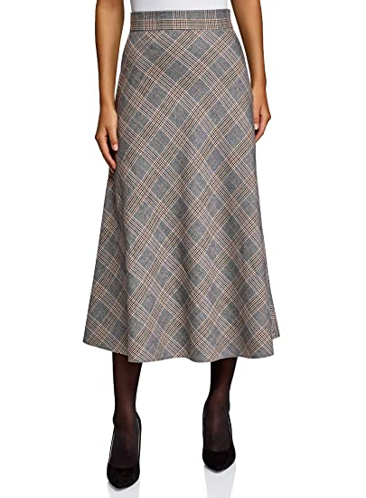oodji Collection Mujer Falda Midi de Silueta en A: Amazon.es: Ropa ...