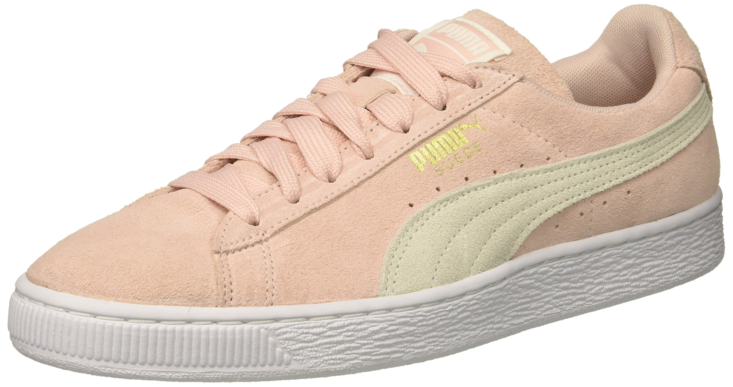 PUMA Women's Suede Classic Wn Sneaker, Veiled Rose White-Gold, 8 M US