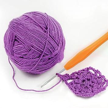 Upala - Set de 44 ganchos de crochet con funda, 9 agujas grandes para tejer, mango ergonómico ganchillo de ganchillo para manos artísticas – el mejor regalo.: Amazon.es: Juguetes y juegos