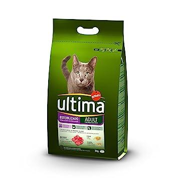 Ultima Pienso para Gatos Esterilizados Adulto con Buey - 3000 gr: Amazon.es: Amazon Pantry