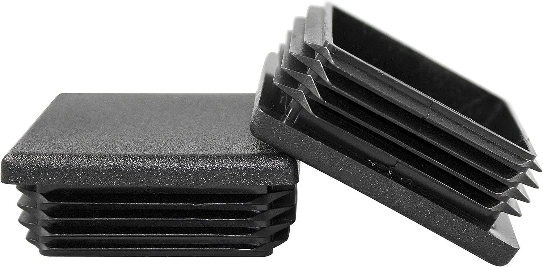 "Plastic Insert Plug Caps the open end of 2/"" x 4/"" Rectangular Tube 10-12 ga wall"