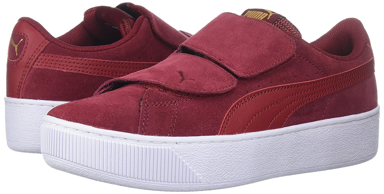 PUMA Women's Vikky Platform Velcro Sneaker B0721LYKXV 10.5 M US|Red Dahlia-red Dahlia