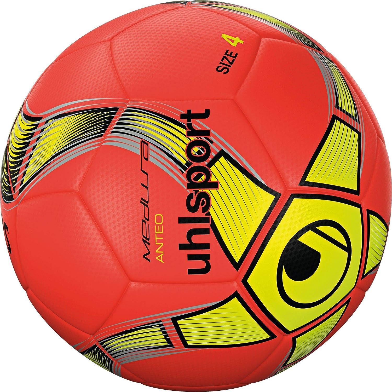uhlsport ANTHEO Balón fútbol, Adultos Unisex, Rojo Fluor/Amarillo ...