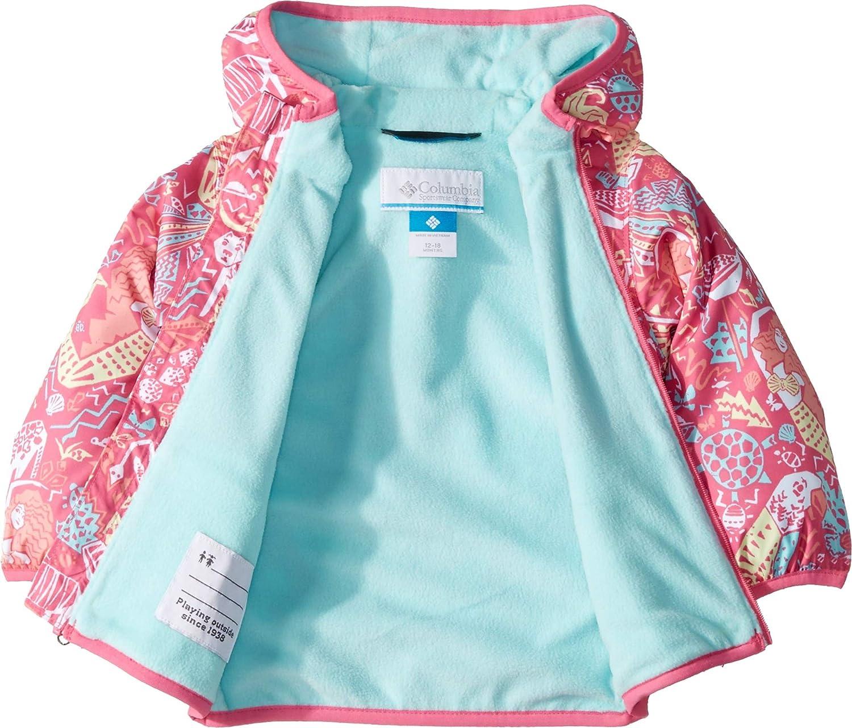 Columbia Kids Baby Girls Mini Pixel Grabber/¿ II Wind Jacket Infant//Toddler Wild Geranium Mermaid Jungle 6-12 Months