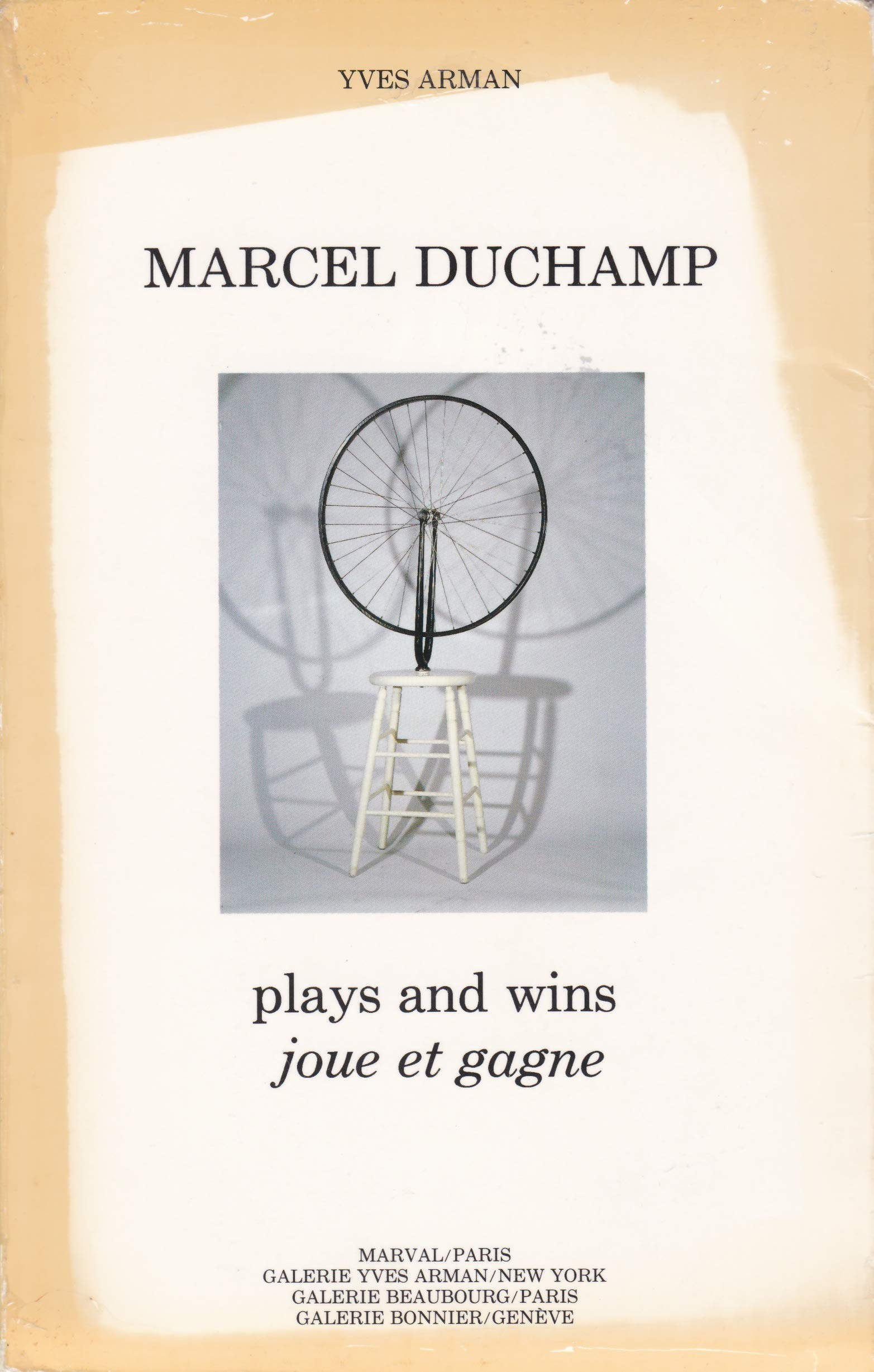 Marcel Duchamp plays and wins joue et gagne Marval 1984: Amazon.es: Arman Yves: Libros