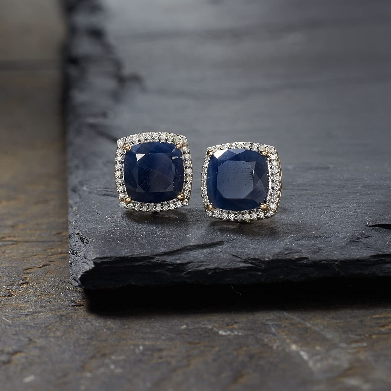 Sapphire and .27 ct Diamond Earrings in 14kt Yellow Gold 2134071 t.w Ross-Simons 7.75 ct t.w
