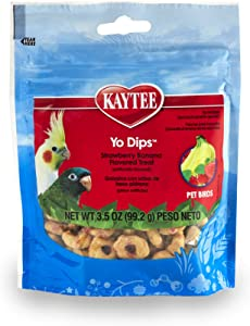 Kaytee Strawberr/Banana Flavor Yogurt Dipped Treat for All Pet Birds, 3.5 oz.