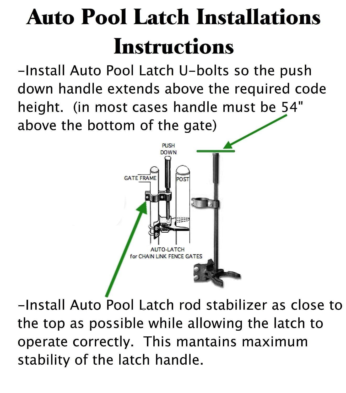 Amazon POOL GATE LATCH Chain Link Child Safety Pool Latch 1 3
