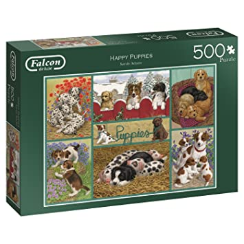 Jumbo 11219 Happy Puppies Jigsaw Puzzle Multi Colour Amazon Co Uk