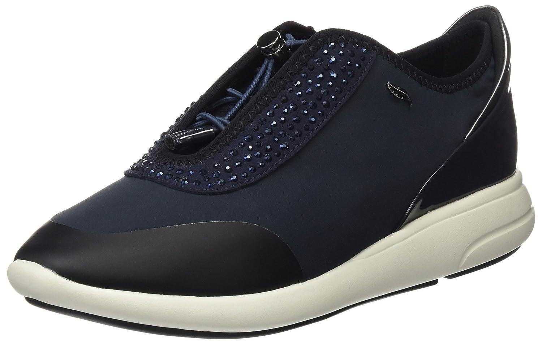 Geox D Ophira E, Zapatillas para Mujer 38 EU|Azul (Dk Navy)