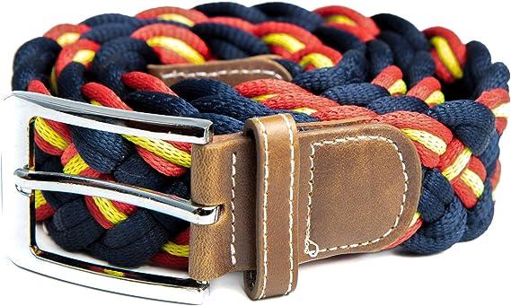 RAU Cinturon bandera de españa trenzado.: Amazon.es: Ropa y accesorios
