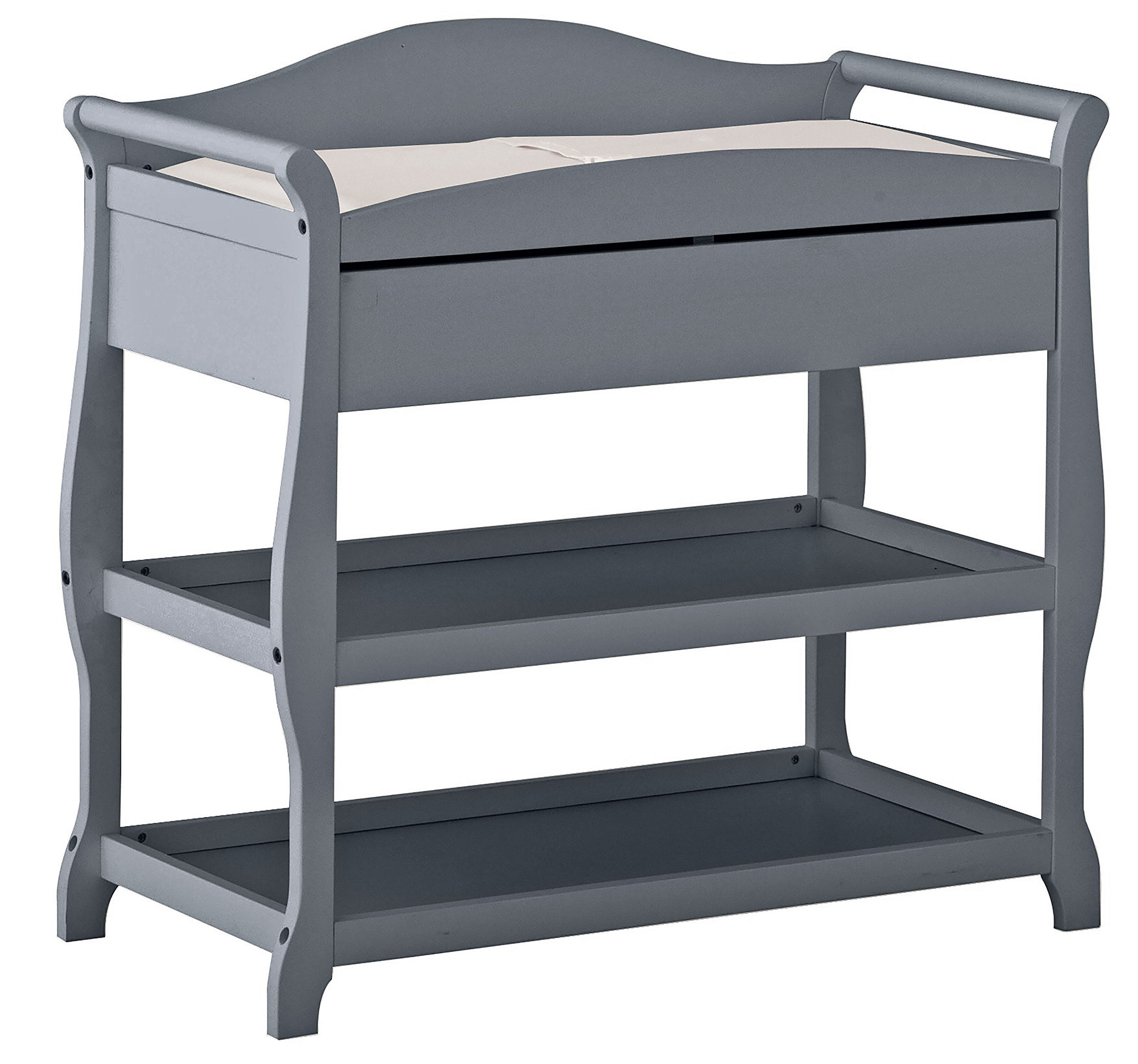 Stork Craft Aspen Changing Table, Gray