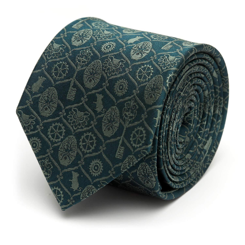 Disney Green Nutcracker Icons Men's Tie, Officially Licensed