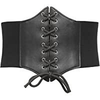GRACE KARIN Womens Corset Belt Vintage Lace-up Cinch Elastic Waist Belt